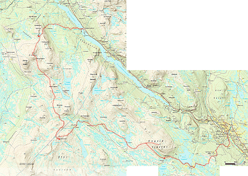 mapa Huldreheimen